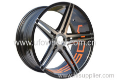 Alloy Wheels black machine face 17 and 18 inch