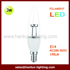 3W LED CANDLE FILAMENT LAMP
