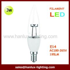 3W LED CANDLE FILAMENT LAMP