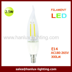 2.5W LED LAMP FILAMENT CANDLE