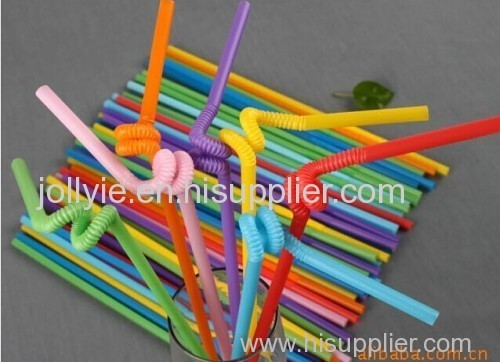 colorful plastic drinking straw