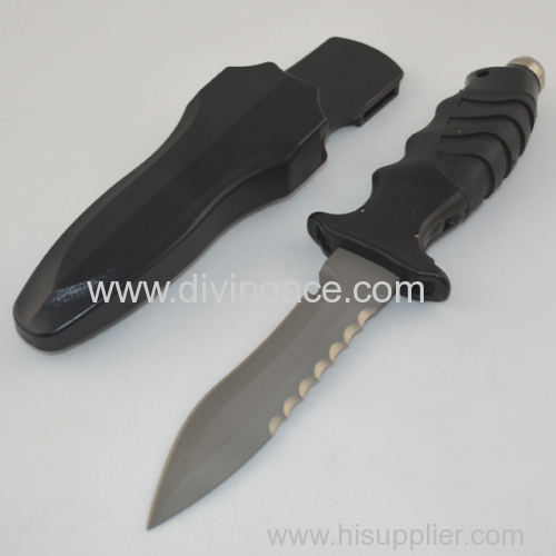 military titanium knife/diving knife