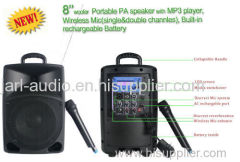 PA Portable battery speakers