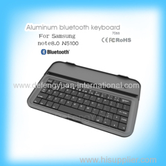 Aluminum bluetooth keyboard for Samsung note8.0 with stand