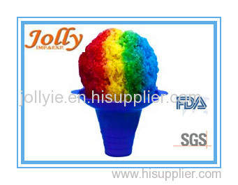 shaved ice flower cup plastic