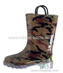 Kids PVC Boots With LED Lights