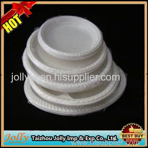 round disposable plates plastic for party