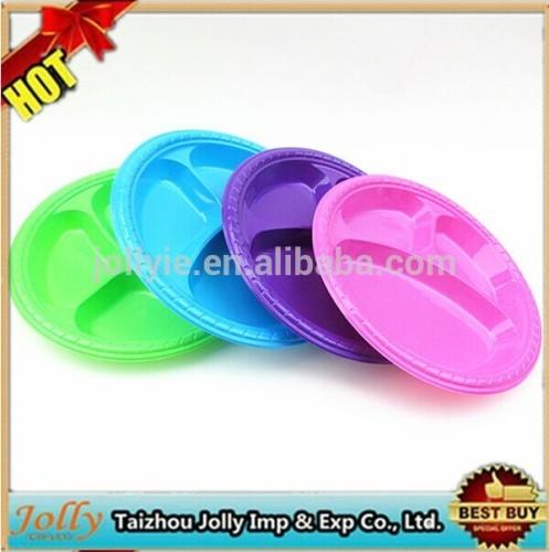 disposable plastic plates/ party disposable plates/ round disposable plates