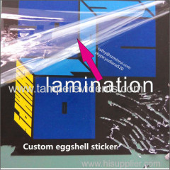 high gloss water proof adheisve sticker