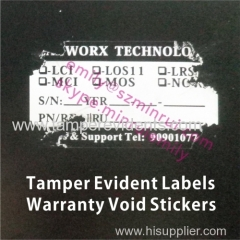 Writable Tamper Evident Labels