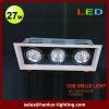 27W 1620lm LED grille light