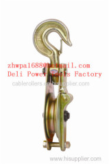 wheel lifting pulley wire rope lifting pulley block pulley