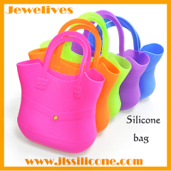 Colorful large silicone shopping bag