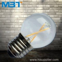 Led filament global bulbs