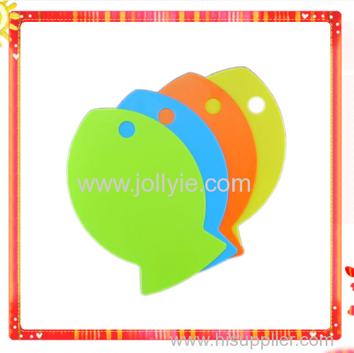 Fish Shaped Fruite Baby food Plastic Cutting Board