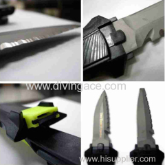 Camping knife/survival knife for diving
