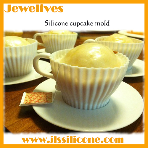 silicone cupcake mold and tea cup