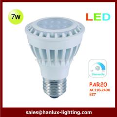 7W LED par20 bulb Dimmable