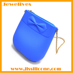 Silicone handbags with steel zipper by china manufacturer
