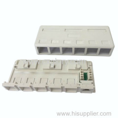 6 ports Surface mount jack