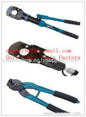 Cable cutter with ratchet system Cable scissors