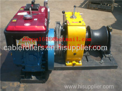 Cable Drum Winch Cable pulling winch cable feeder