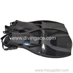 Black fashinoable fins for swimming/diving
