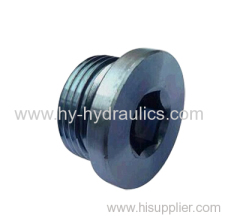 BSP male captive seal hollow hex Plugs
