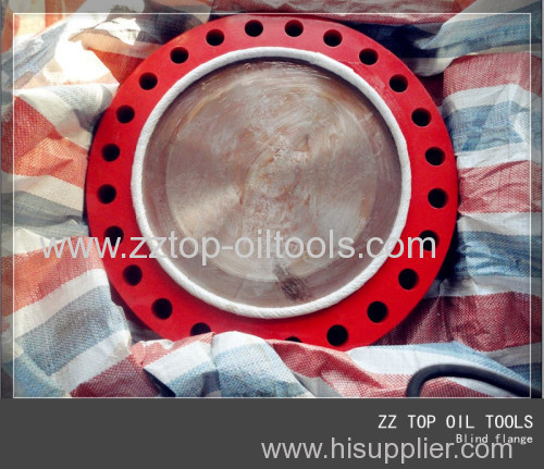 Oilfield wellhead blind flange