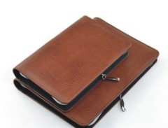 leather journal planner wallet with zipper