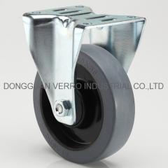 Medium duty industrial rubber casters