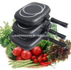 Dessini 32-36-40cm Cheap energy saving non stick 40cm double fry pan aluminum cast