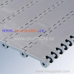 Slat top straight running plastic conveyor chains E80 Base Flights