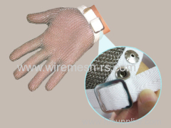 stainless steel meat cutting glove