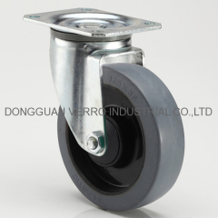 Industrial ball bearing swivel rubber casters
