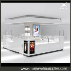 glasses display showcase and kiosk for shopping mall