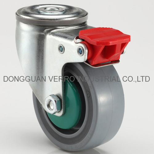4 or 5 inches industrial lockable sandwich casters