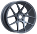 Car Alloy wheel gunmetal in staggered