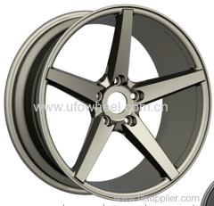 Replica Alloy Wheels gunmetal 5 spokes