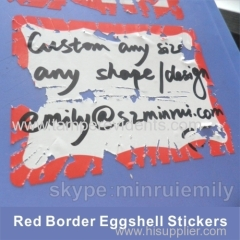 Excellent Adhesive Eggshell Stickers Can be Writable