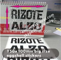 Classic White and Black Printing Eggshelll Sticker