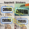 Adhesive Eggshell Sticker Printed With Your Design,Black Printing on White Destructive Eggshell Paper Label Sticker