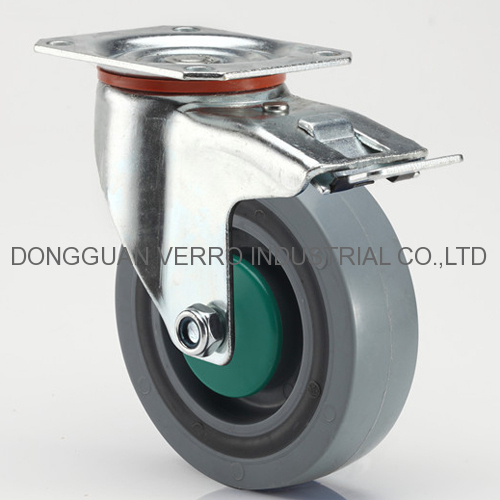 4 inches industrial equipment sandwich casters with brake