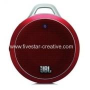 Red JBL Micro Wireless Ultra-Portable Bluetooth Speakers