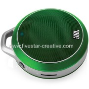JBL On Tour Micro Wireless Ultra Portable Rechargeable Bluetooth Speakers with 3.5mm Jack Green