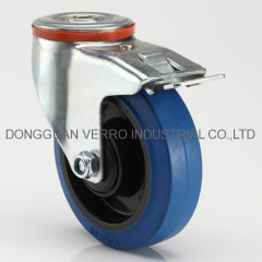 5 inches industrial storage cage cart lockable rubber casters
