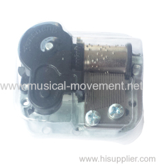 Papery Transparent Cover Music Box Mechanism