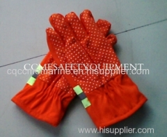 safety fire gloves for firefighter