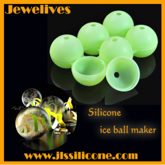 6-earth-shape inside silicone ice ball maker wholesale