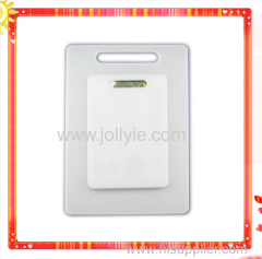 WHITE BUTCHER PLASTIC CUTTING BOARD